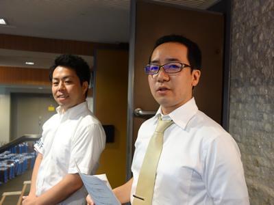 福田と講師の中神先生